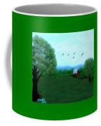 The Farm Below The Mountains Coffee Mug