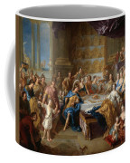 The Feast Of Dido And Aeneas. An Allegorical Portrait Of The Family Of The Duc And Duchesse Du Maine Coffee Mug