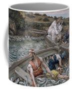The First Miraculous Draught Of Fish Coffee Mug by Tissot