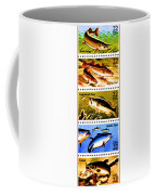 The Fish Stamps Coffee Mug by Lanjee Chee