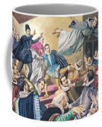 The Flight Of Father Dominic Coffee Mug by English School