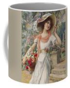 The Flower Girl Coffee Mug by Emile Vernon