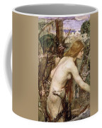 The Flower Picker Study John William Waterhouse Coffee Mug