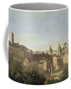 The Forum Seen From The Farnese Gardens Coffee Mug by Jean Baptiste Camille Corot