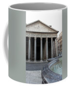 The Fountain In Front Of Pantheon Coffee Mug