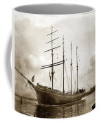 The Four-masted Barkentine  Jane Stanford Built By Hans Bendixse 1892 Coffee Mug
