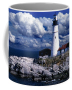 The Front At Portland Head Coffee Mug by Skip Willits
