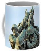 The Front Up Close -- The Iwo Jima Monument Coffee Mug
