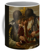 The Gamblers Coffee Mug by Hendrick Ter Brugghen