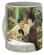 The Garden Of Pere Lathuille Coffee Mug by Edouard Manet