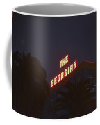 The Georgian At Night, Santa Monica, Ca Coffee Mug