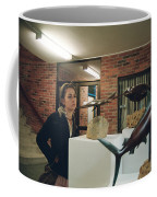 The Girl In The Exhibition Coffee Mug