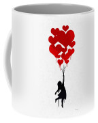 The Girl With The Red Balloons Coffee Mug