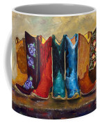 The Girls Are Back In Town Coffee Mug by Frances Marino
