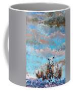 The Golden Flock - Colorful Sheep Art Coffee Mug