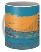 The Golden Gate Bridge In Sfo California Travel Poster Coffee Mug