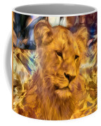 The Golden Lioness  Coffee Mug