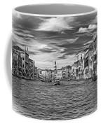 The Grand Canal - Paint Bw Coffee Mug