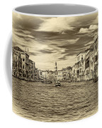 The Grand Canal - Paint Sepia Coffee Mug