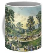 The Grand Drive, Central Park, New York, 1869 Coffee Mug