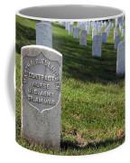 The Grave Of Martha B. Ellingsen In Arlington's Nurses Section Coffee Mug