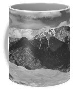 The Great Colorado Sand Dunes  125 Black And White Coffee Mug