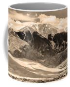 The Great Colorado Sand Dunes In Sepia Coffee Mug