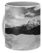 The Great Sand Dunes And Sangre De Cristo Mountains - Bw Coffee Mug