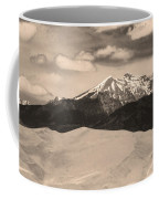 The Great Sand Dunes And Sangre De Cristo Mountains - Sepia Coffee Mug