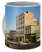 The Green Building On The Corner Coffee Mug
