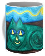 The Green Cat Coffee Mug