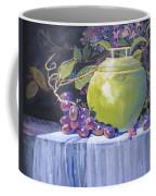 The Green Pot And Grapes Coffee Mug