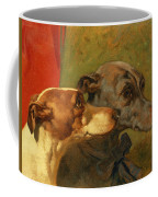 The Greyhounds Charley And Jimmy In An Interior Coffee Mug by John Frederick Herring Snr