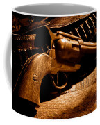 The Gun That Won The West - Sepia Coffee Mug