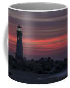 The Harbor Light At Dawn Coffee Mug