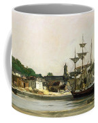 The Harbour At Honfleur Coffee Mug by Karl Pierre Daubigny