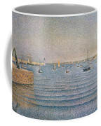 The Harbour At Portrieux Coffee Mug
