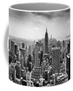 New York City Skyline Bw Coffee Mug