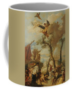 The Hebrews Gathering Manna In The Desert  Coffee Mug