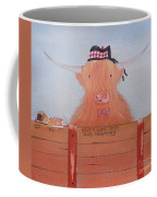 The Heiland Coo At Christmas Coffee Mug