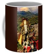 The Hills Are Alive In Santorini Coffee Mug