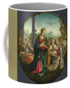 The Holy Family With Angels Coffee Mug