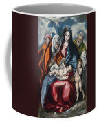 The Holy Family With Saint Anne And The Infant John The Baptist Coffee Mug