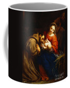 The Holy Family With Saint Francis Coffee Mug by Jacob van Oost