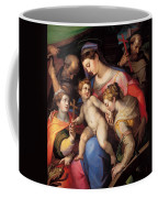 The Holy Family With St Catherine Of Alexandria, St Margaret Of Antioch And St Francis Of Assisi  Coffee Mug