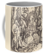 The Holy Family With Two Music-making Angels Coffee Mug