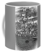 The Holy Ganges - Paint Bw Coffee Mug