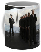 The Honor Guard Stands At Parade Rest Coffee Mug