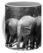 The Horses Of Mackinac Island Michigan 03 Bw Coffee Mug