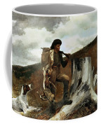 The Hunter And His Dogs Coffee Mug by Winslow Homer